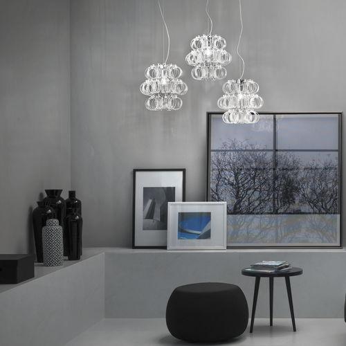lustre contemporain / en verre / à incandescence