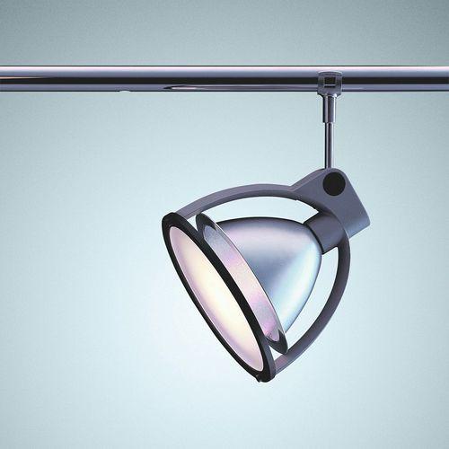 éclairage sur rail halogène / rond / en fonte d'aluminium / en plastique