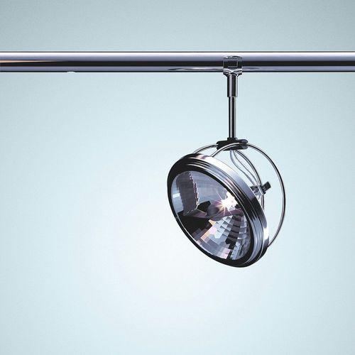 éclairage sur rail à LED / halogène / rond / en acier