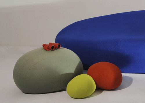 pouf design original / en tissu / rond / modulable