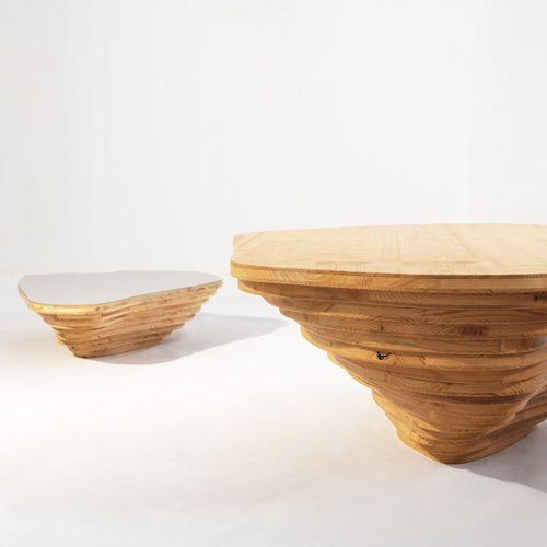 table basse design organique / en bois / professionnelle / modulable