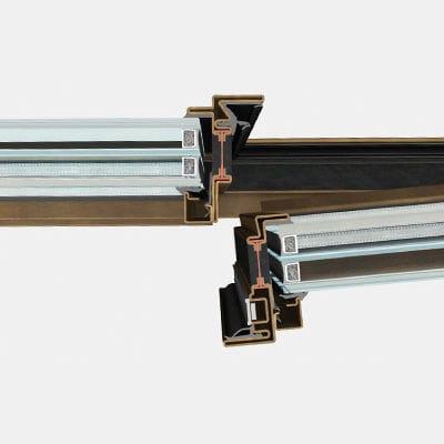 profilé pour fenêtre en acier / à coupure thermique
