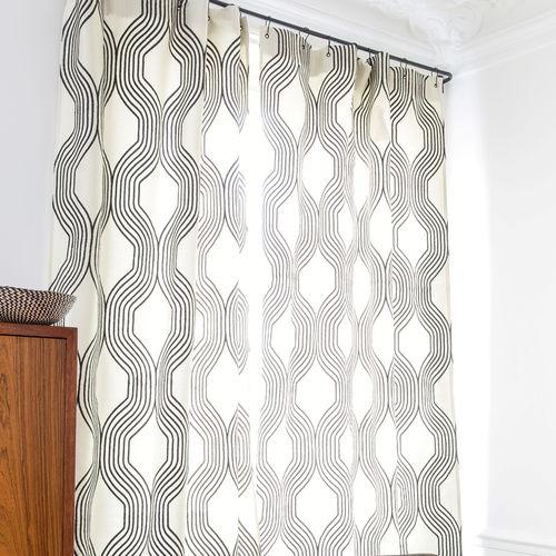 Tissu d'ameublement / pour rideaux / à motif / en polyester COLLINS : GRAPHITE Larsen