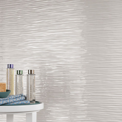 Carrelage d'intérieur / mural / en grès cérame / motif à vagues 3D WALL DESIGN : WAVE WHITE Atlas Concorde