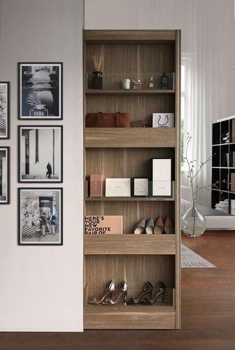 armoire murale / contemporaine / en bois / à porte coulissante