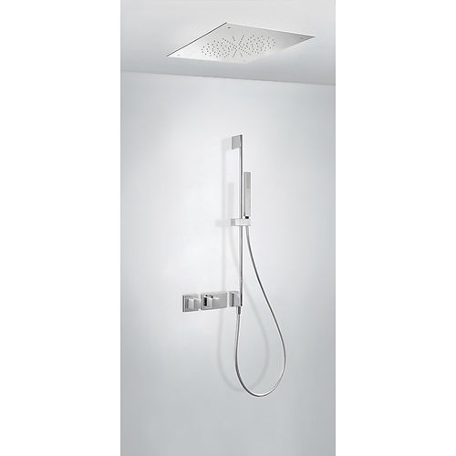 set de douche encastrable au mur / encastrable au plafond / contemporain / avec douche à main