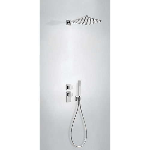 set de douche encastrable au mur / contemporain / avec douche à main / thermostatique