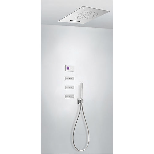 set de douche encastrable au mur / encastrable au plafond / contemporain / avec douche à main