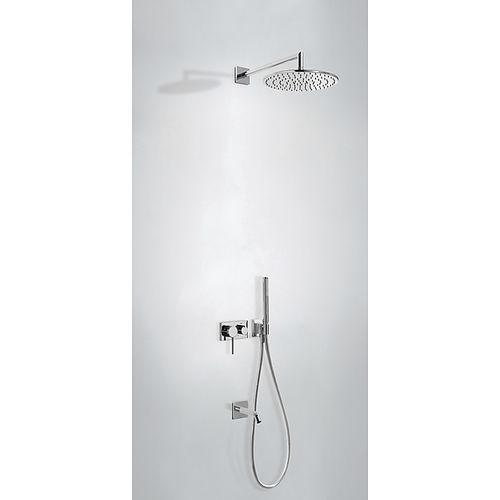 set de douche encastrable au mur / contemporain / avec douche à main / avec pommeau réglable