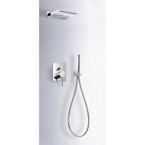 set de douche encastrable au mur / contemporain / avec douche à main / avec pommeau fixe