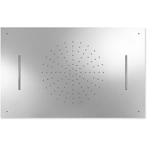 pommeau de douche encastrable au plafond / rectangulaire / pluie
