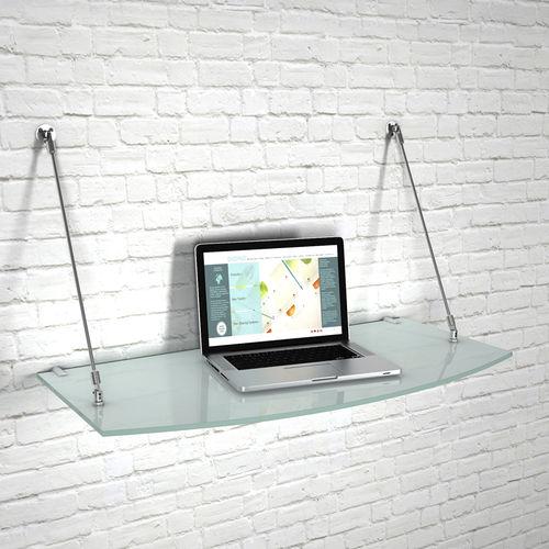 étagère murale / contemporaine / en verre / pour commerce
