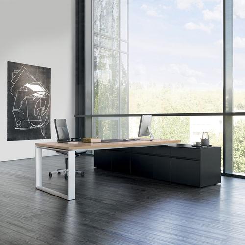 Bureau de direction / en plaqué bois / en stratifié / en aluminium SONO by Justus Kolberg Renz