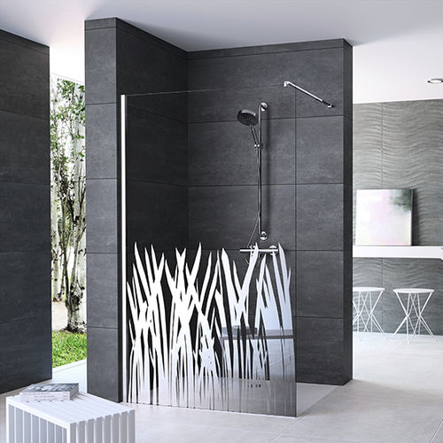 douche à l'italienne / en verre / rectangulaire
