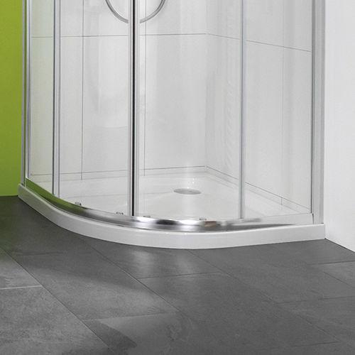 receveur de douche d'angle / en pierre