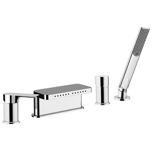 mitigeur de douche / pour baignoire / à encastrer / en métal chromé