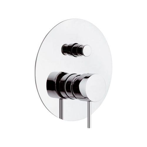 mitigeur de douche / à encastrer / en laiton chromé / 2 trous