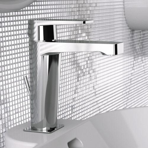 mitigeur pour vasque / en métal chromé / en laiton chromé / 1 trou