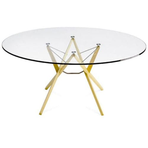 table contemporaine / en chêne / en wengé / en verre