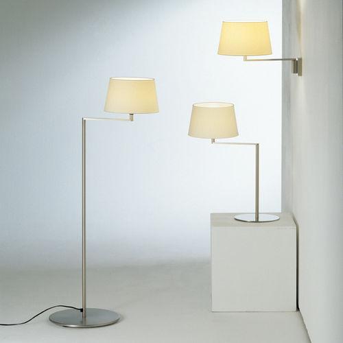 lampe sur pied / contemporaine / en métal / en lin