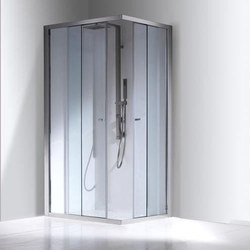 paroi de douche coulissante / d'angle / en verre