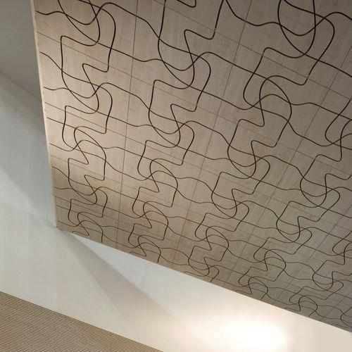 Panneau décoratif / acoustique / en bois / en bois massif LETWOOD Fantoni