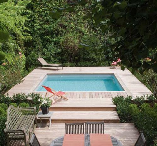 piscine carré enterrée