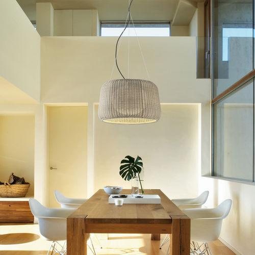 lampe suspension / contemporaine / en fonte / en polyuréthane