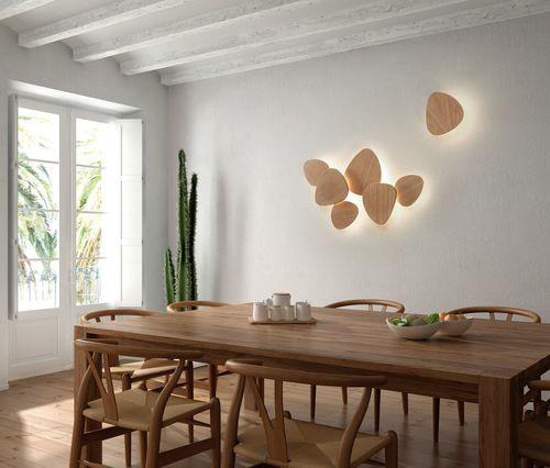 applique murale contemporaine / en chêne / à LED / modulaire
