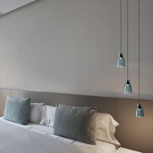 lampe suspension / contemporaine / en verre borosilicaté / à LED