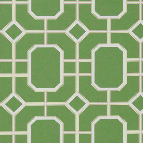 papier peint classique / à motif géométrique / gris / bleu