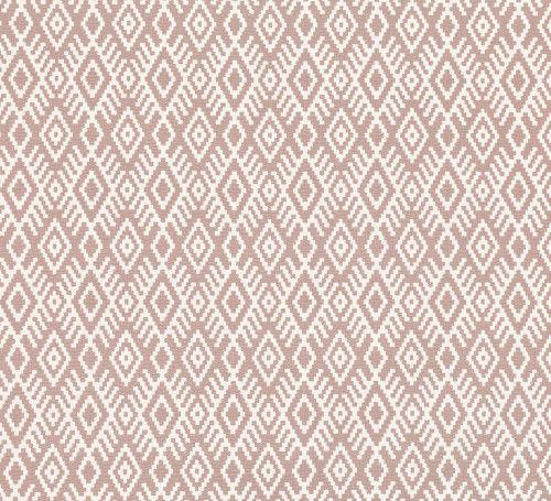 tissu d'ameublement / motif géométrique / en lin / en viscose