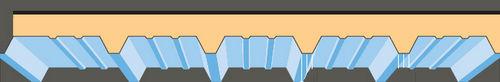Panneau de toiture en métal peint / isolant DECK® LATTONEDIL