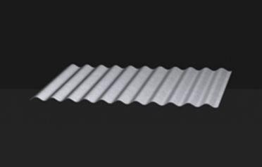 couverture en plaques en acier / ondulée