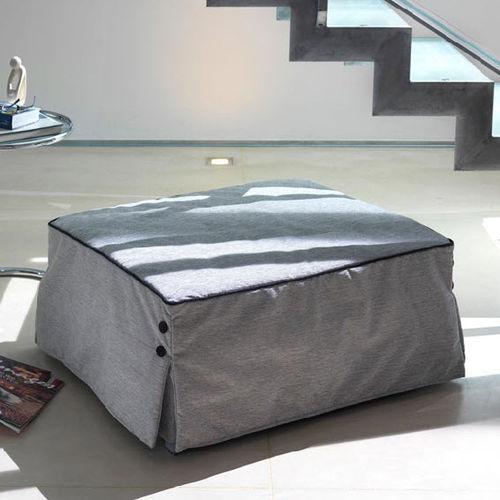ottoman contemporain / en tissu / carré / lit