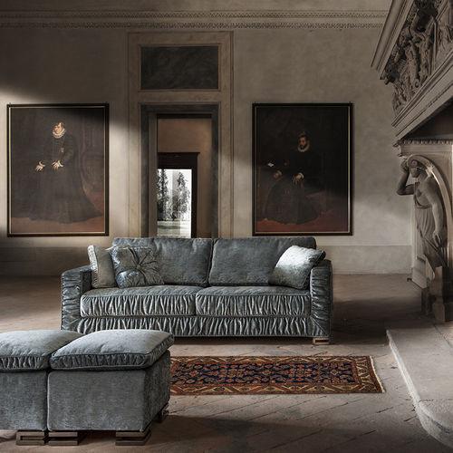 canapé lit / Art Déco / en tissu / 2 places