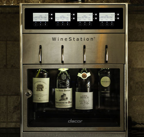 cave à vin encastrable / sous plan / en métal / électrique