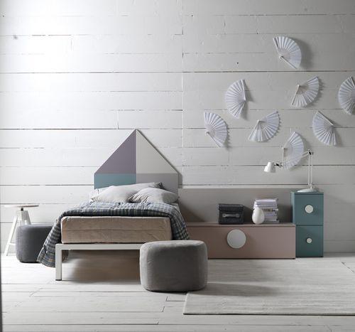 lit simple / contemporain / avec tête de lit / pour enfant