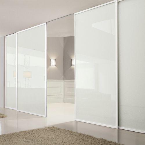 cloison coulissante / en verre / résidentielle