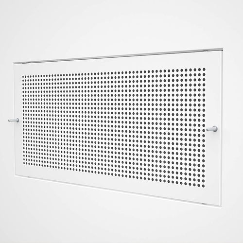 grille de ventilation en inox / en acier / rectangulaire / blanche