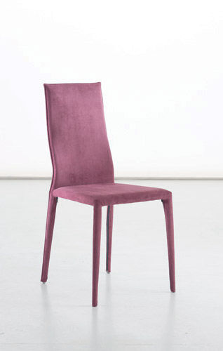 chaise contemporaine / tapissée / en tissu