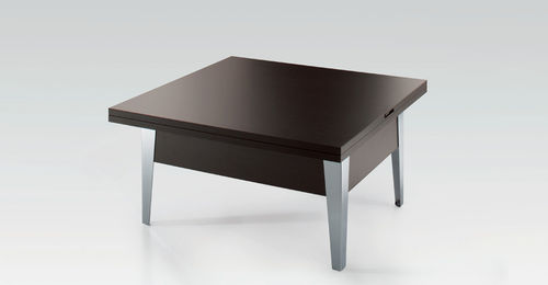 table contemporaine / en bois / rectangulaire / transformable