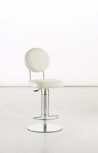 chaise de bar contemporaine / tapissée / en métal