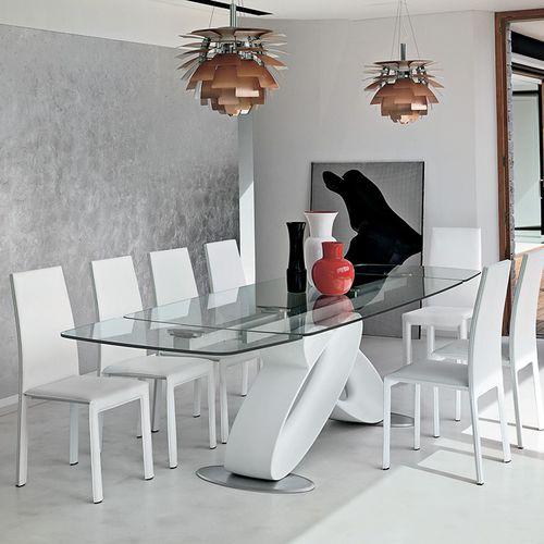 Table à manger contemporaine / en verre / en polyuréthane / en verre trempé ECLIPSE Target Point New