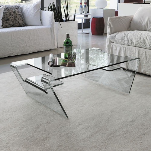 Table basse contemporaine / en verre / courbée AIRONE Target Point New