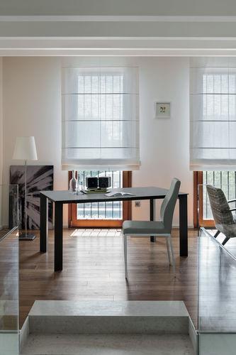 Table à manger contemporaine / en grès cérame / en stratifié / en verre trempé SATURNO 160 Target Point New