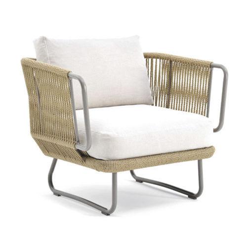 fauteuil contemporain / en tissu / en aluminium / en fibres synthétiques