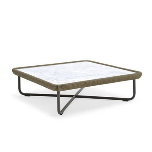 table basse contemporaine / en marbre / en fibres synthétiques / en HPL