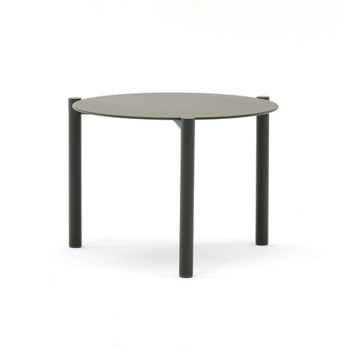 table basse contemporaine / en aluminium / ronde / de jardin