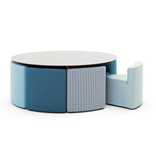 fauteuil contemporain / en tissu / déhoussable / contract